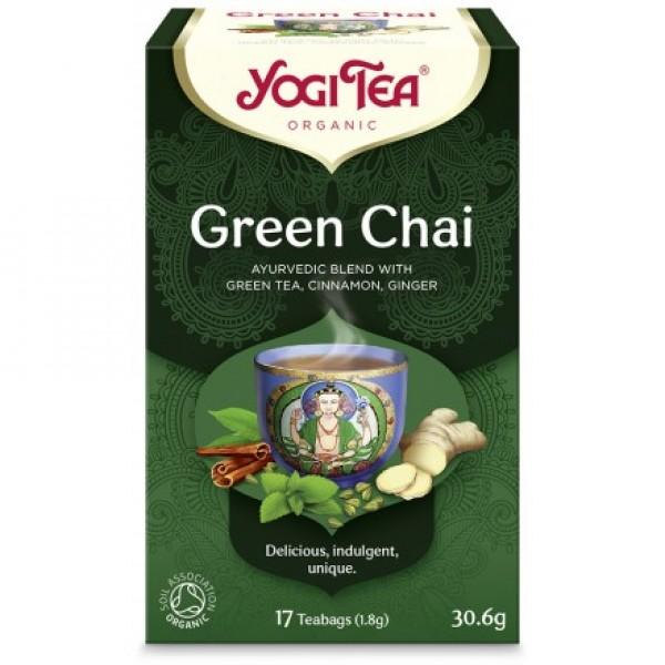 YOGI TEA GREEN TEA ΒΙΟ 30,6ΓΡ Ροφήματα Βιολογικά Προϊόντα - biovlastos.gr