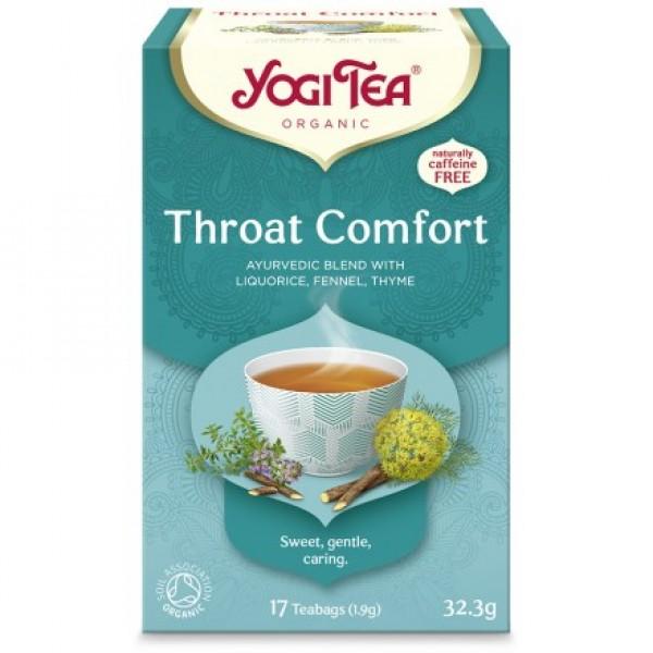 YOGI TEA THROAT COMFORT  ΒΙΟ 32,3ΓΡ Ροφήματα Βιολογικά Προϊόντα - biovlastos.gr