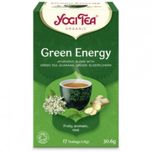 YOGI TEA GREEN ENERGY ΒΙΟ 30,6ΓΡ Ροφήματα Βιολογικά Προϊόντα - biovlastos.gr