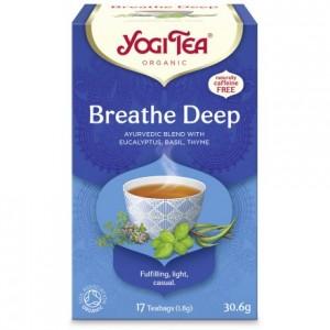 YOGI TEA BREATH DEEP  ΒΙΟ 30,6ΓΡ Ροφήματα Βιολογικά Προϊόντα - biovlastos.gr