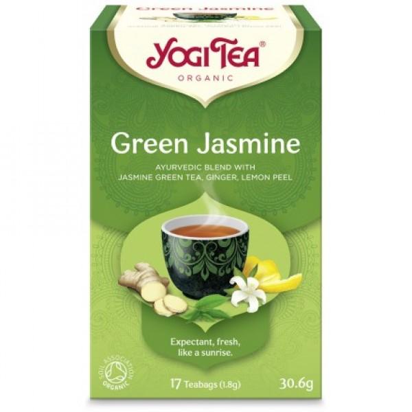 YOGI TEA GREEN JASMINE  ΒΙΟ 30,6ΓΡ Ροφήματα Βιολογικά Προϊόντα - biovlastos.gr