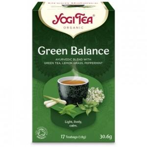 YOGI TEA GREEN BALANCE ΒΙΟ 30,6ΓΡ Ροφήματα Βιολογικά Προϊόντα - biovlastos.gr