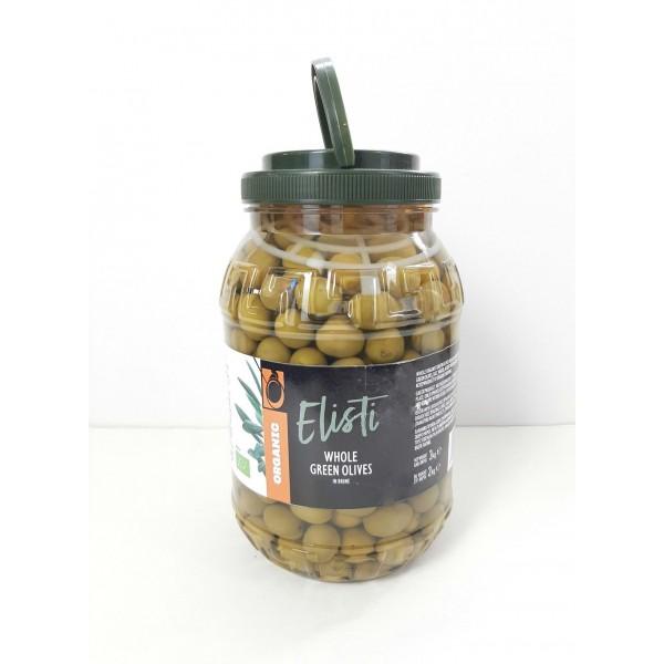 Ελιές πράσινες σε άλμη PET ΒΙΟ 2kg Ελιές Βιολογικά Προϊόντα - biovlastos.gr