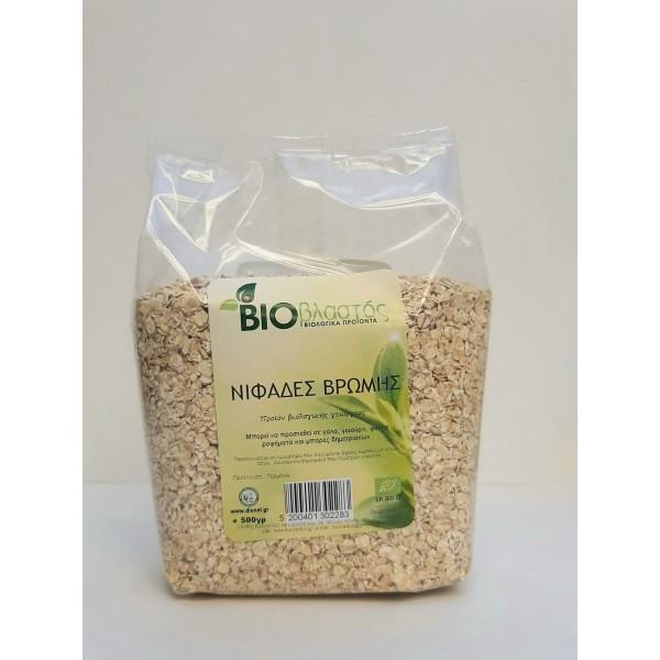 Νιφάδες Βρώμης Λεπτές ΓΕΡ BIO 500γρ Νιφάδες Δημητριακών Βιολογικά Προϊόντα - biovlastos.gr