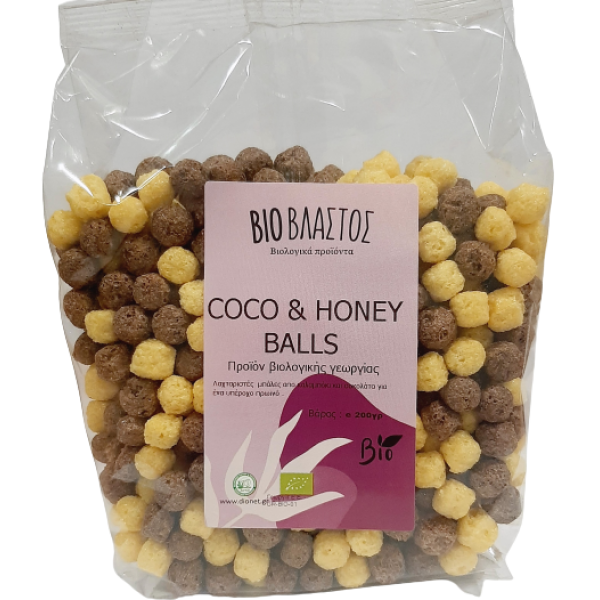 Coco and Honey Balls Mix BIO 200γρ Πρωινό Βιολογικά Προϊόντα - biovlastos.gr