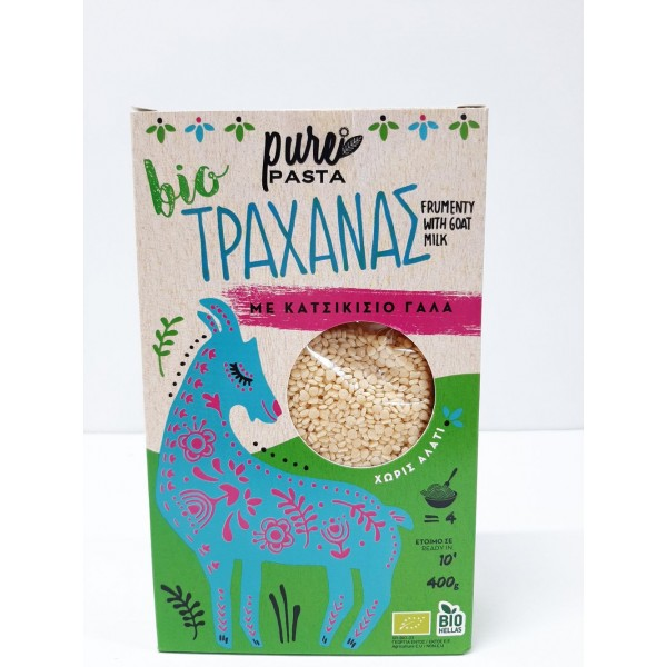 Τραχανάς από κατσικίσιο γάλα ΒΙΟ 400gr Προϊόντα Pure Pasta Βιολογικά Προϊόντα - biovlastos.gr