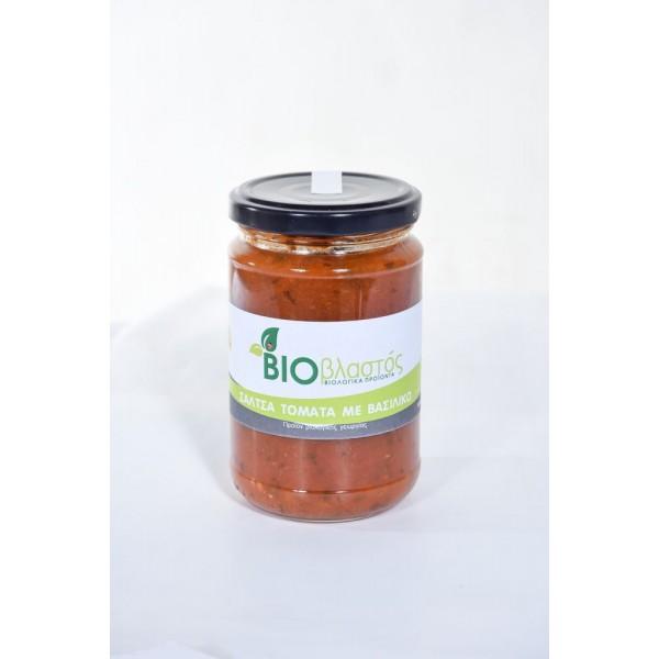 Σάλτσα Ντομάτας Με Βασιλικό ΒΙΟ 280γρ Προϊόντα Μπακαλικής Βιολογικά Προϊόντα - biovlastos.gr
