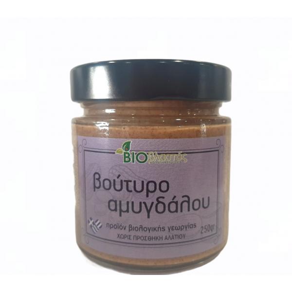 Αμυγδαλοβούτυρο Ελληνικό ΒΙΟ 250γρ Ταχίνι - Βούτυρο Βιολογικά Προϊόντα - biovlastos.gr