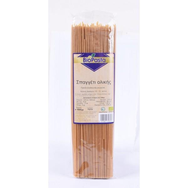Σπαγγέτι Ολικής ΒΙΟ 500γρ  Ζυμαρικά Βιολογικά Προϊόντα - biovlastos.gr